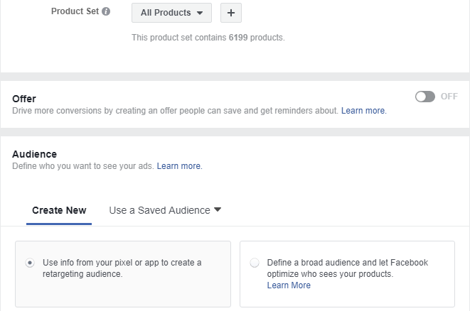 chạy dynamic remarketing facebook
